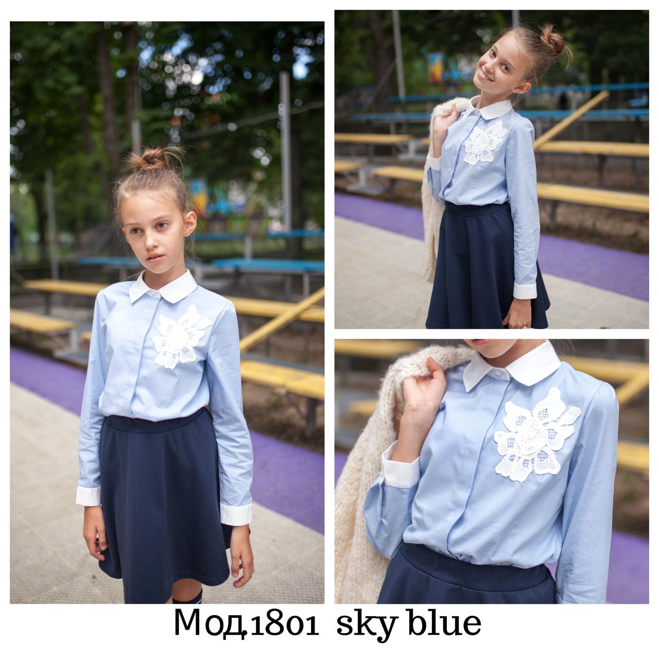 Голубая школьная блузочка