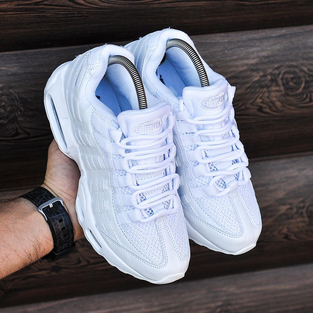 1d92d145 Женские белые кроссовки Nike Air Max 95 реплика топ качества ...