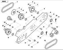 Цепь роликовая на сеялку Kverneland Monopil AC691787