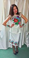 """Костюм жіночий """"Оксанка"""", машинна вишивка хрестиком, розмір 44-46р. (М), фото 1"""