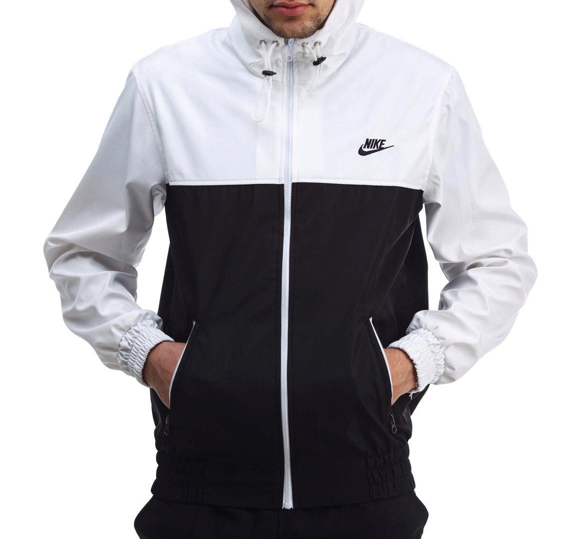 275cc5ee Ветровка куртка мужская Nike бело-черная (реплика) - купить по ...