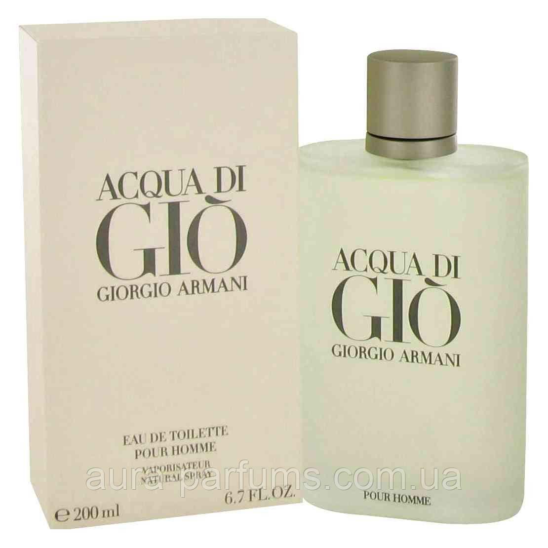 Giorgio Armani Acqua Di Gio Pour Homme Edt 200 Ml M оригинал Biglua