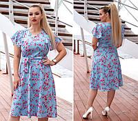 Женское модное платье  ДВ911 (бат), фото 1