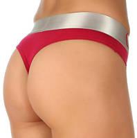Трусы женские стринги Calvin Klein Steel strings cotton хлопок L, красные