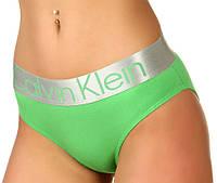 Трусы женские слипы Calvin Klein Steel slips cotton хлопок XL, зеленые