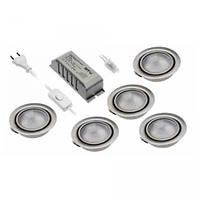 Набор 5 светильников + трансформатор с лампочкой и выключателем