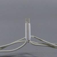 Светодиодная гирлянда Нить 10 м 100LED Каучук теплая белая на черном проводе с флешем (мигающая)