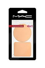 Спонжи для макияжа МАС набор 2 шт (круглый+прямоугольный)