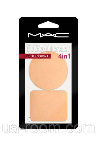 Спонжи для макияжа МАС набор 2 шт (круглый+прямоугольный), фото 2