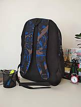 Текстильный рюкзак для мальчика нашивка Sport 48*35*15 см, фото 3