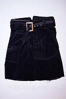 Детская вельветовая юбка 134, Черный