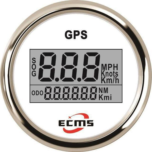 Gps спидометр с компасом для катера Ecms белый