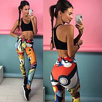 Женский топ и лосины для фитнеса, йоги, зумбы, спорт зала, фото 1