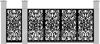 Ворота с уникальным дизайном №10