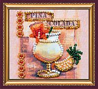 Набор-магнит для вышивки бисером Пина Колада