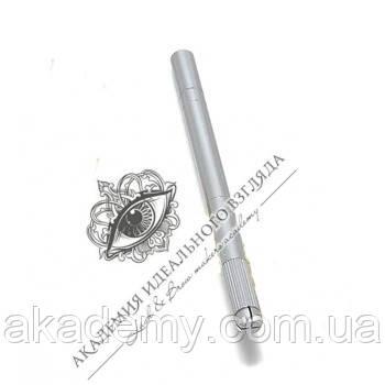 Ручка-манипула для микроблейдинга односторонняя (серебряная)