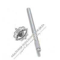 Ручка-манипула для микроблейдинга односторонняя (серебряная), фото 1