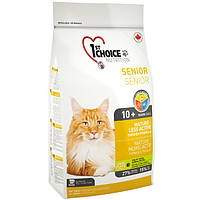 """Сухой корм """"1st Choice Senior Mature Less Active"""" 27/15 (для пожилых и малоактивных кошек), 350 гр"""
