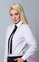 Женская классическая рубашка с галстуком 6413188, фото 1