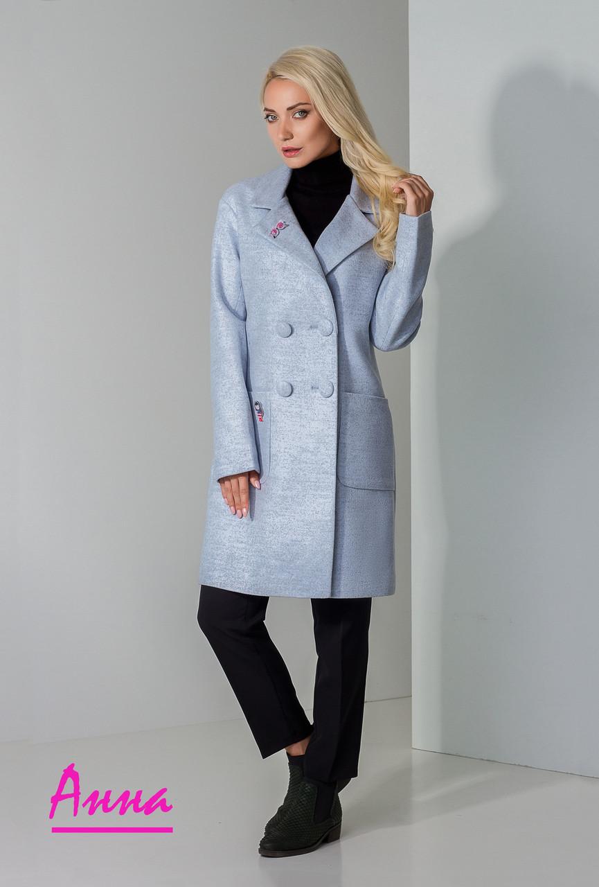 Женское пальто оверсайз двубортное 640286