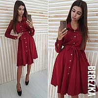 Платье-рубашка с пышной юбкой и длинным рукавом 66031831, фото 1