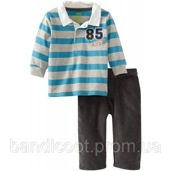 Кофта, штаны для мальчика Набор в полоску «85»  Watch Me Grow! by Sesame Street, размер 24 месяца