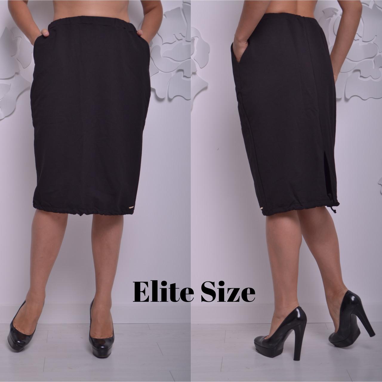 Трикотажная женская юбка большого размера 615937