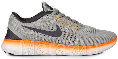 cbe0ba06 Мужские кроссовки Nike Free Run Flyknit Grey Найк Фри Ран Флайнит серые,  фото 2