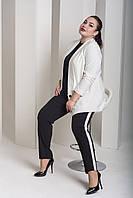 Брючный женский костюм в больших размера с пиджаком 1015946, фото 1