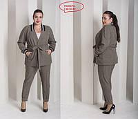 Женский костюм повседневный большого размера, с 48 по 82 размер, фото 1