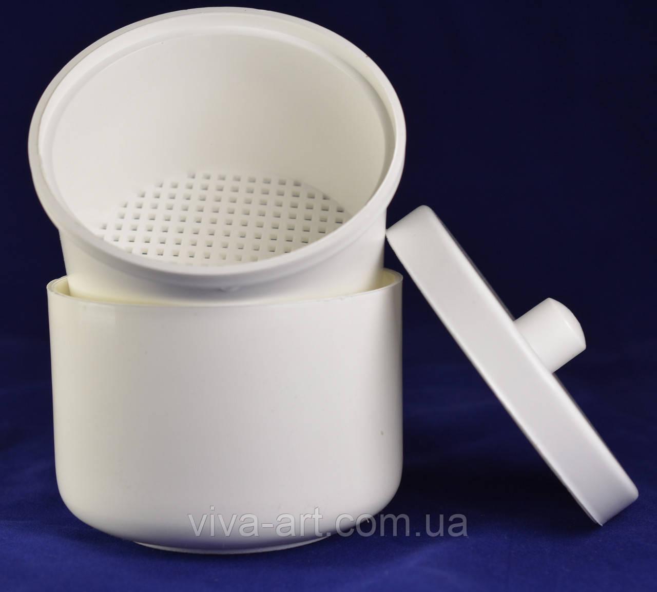 Контейнер зі вставкою для дезінфекції насадок білого кольору