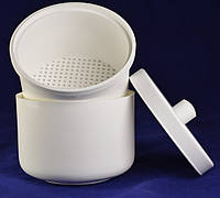 Контейнер со вставкой для дезинфекции насадок белого цвета