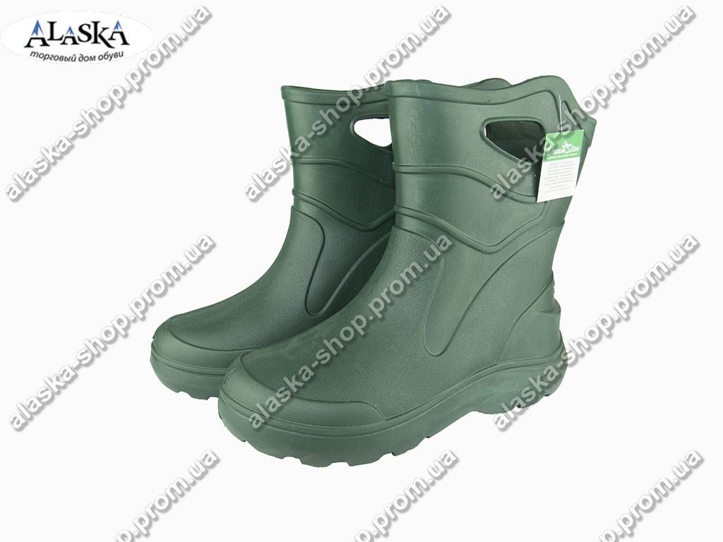 Сапоги мужские (Код: EVA-06 пустые зеленые )
