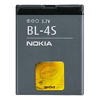 Батарея (акб, аккумулятор) Nokia BL-4S для телефонов Nokia, 860 mAh, оригинал