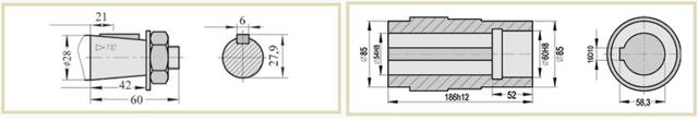 Присоединительные размеры валов редуктора А-400 чертеж
