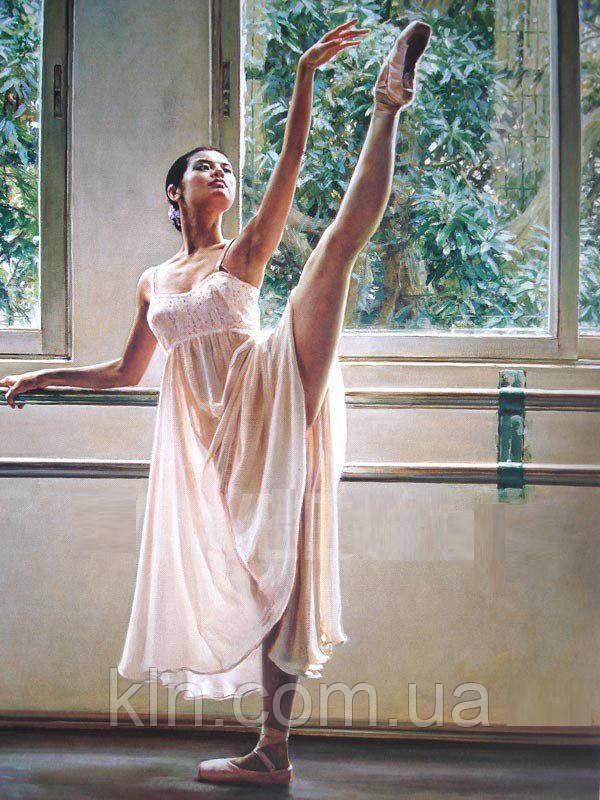 Алмазная вышивка 50 х 40 см Грация балерины (арт. FS780) полная выкладка
