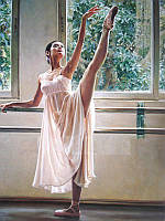 Алмазная вышивка 50 х 40 см Грация балерины (арт. FS780) полная выкладка, фото 1