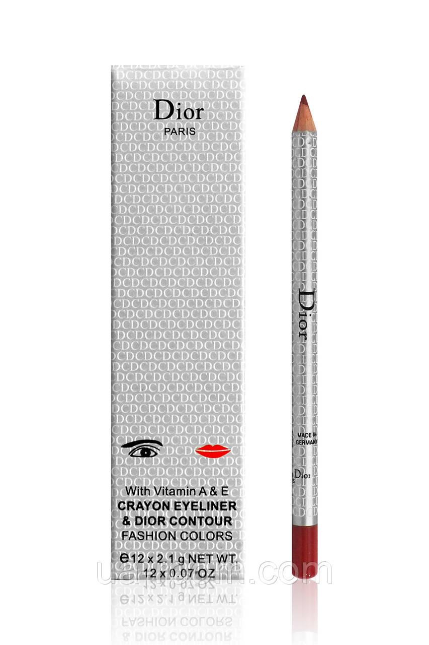 Карандаш для глаз и губ Christian Dior 12 оттенков