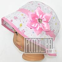 Детская панамка для девочки р. 48 тонкая 4315 Розовый