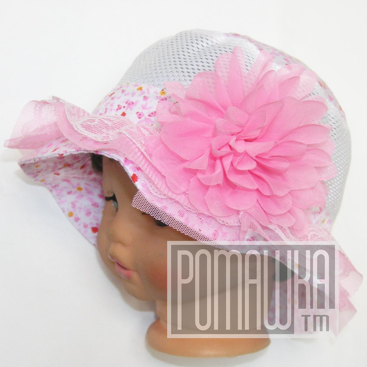 Детская панамка для девочки р. 48 тонкая 4316 Розовый