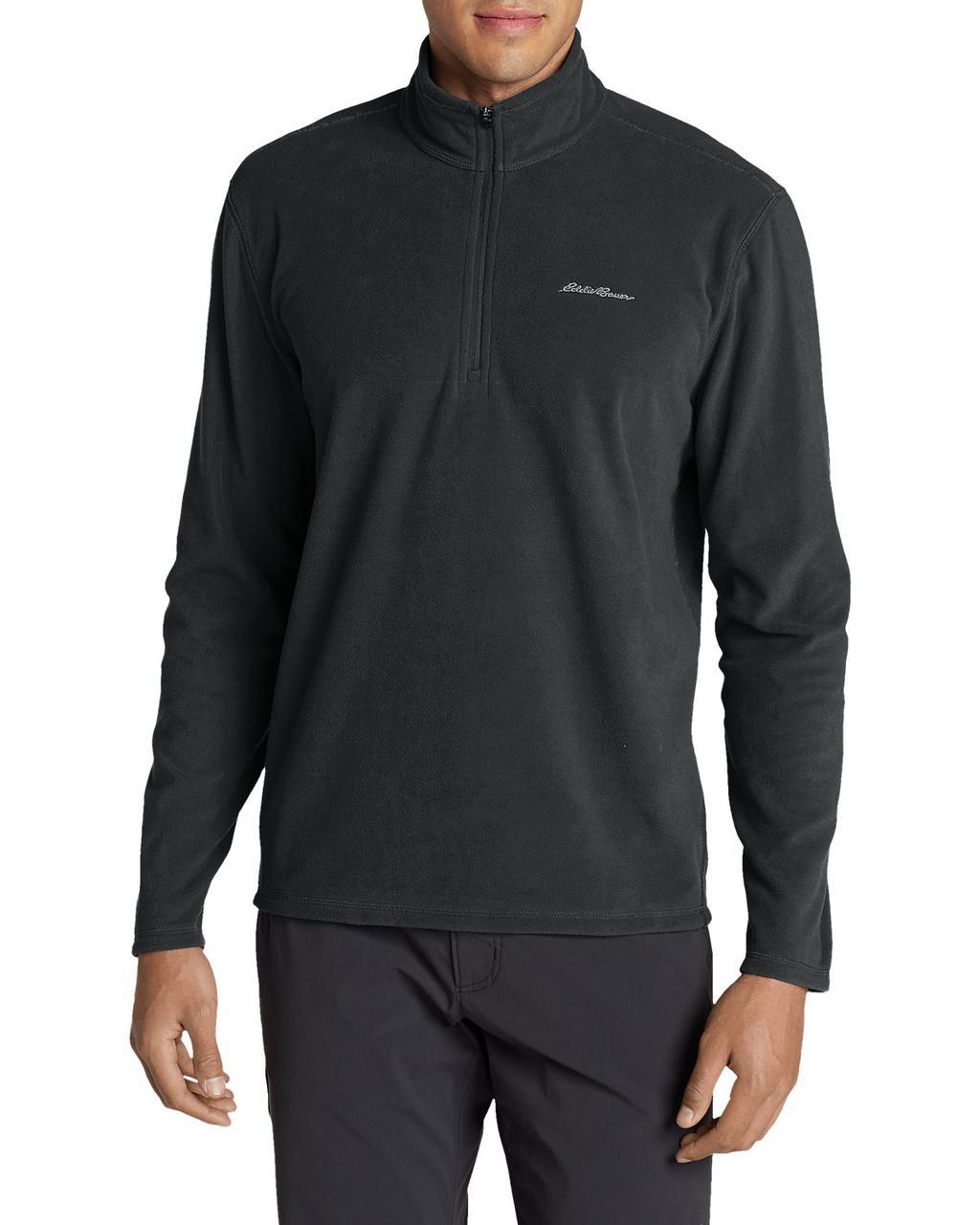 Кофта Eddie Bauer Mens Quest Fleece 1/4-Zip Pullover DT THYME