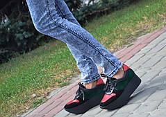 Кроссовки на платформе Royal Shoes 267 Черно-красные