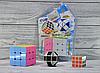 Набор кубик - рубика 3 в 1 большой и маленький кубик + логическая змей, фото 2