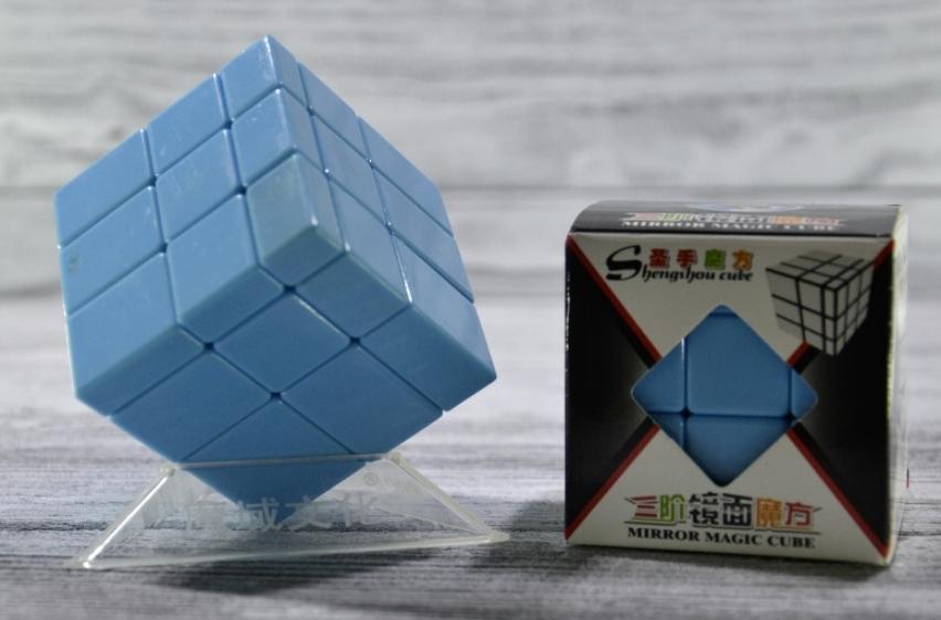 Кубик Рубика зеркальный 3х3 цвет синий