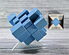 Кубик Рубика зеркальный 3х3 цвет синий, фото 4