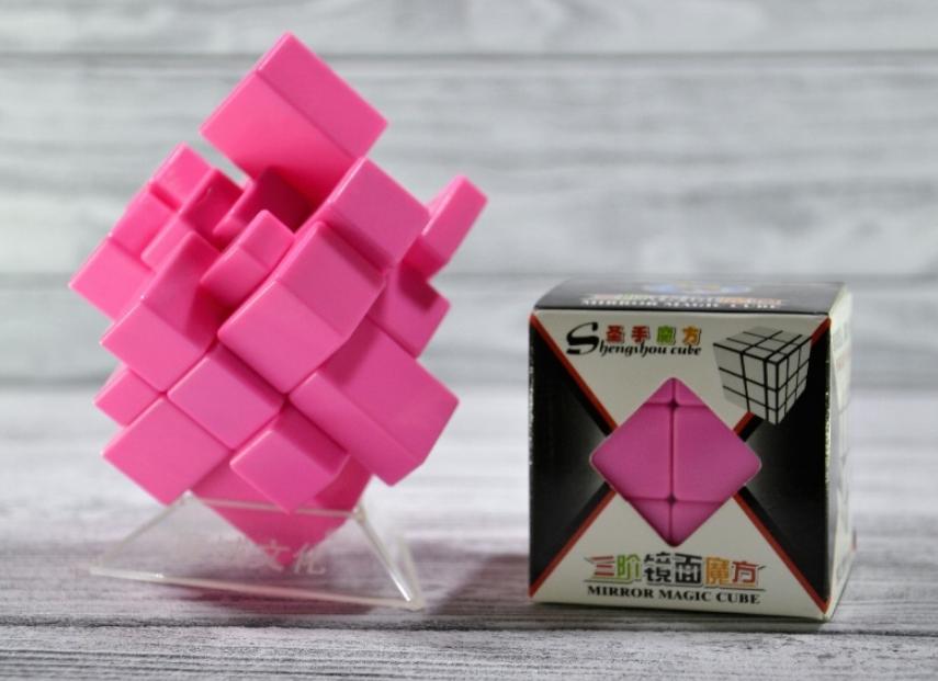 Кубик Рубика зеркальный 3х3 розовый