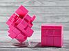 Кубик Рубика зеркальный 3х3 розовый, фото 4