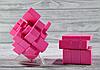 Кубик Рубика зеркальный 3х3 розовый, фото 5