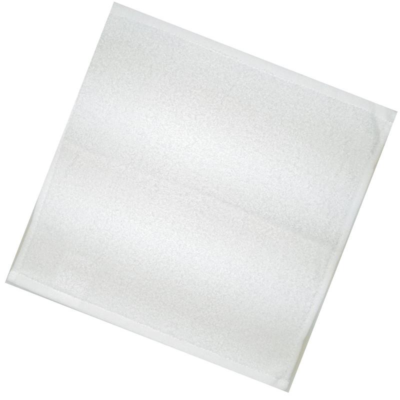 Полотенца махровые 30*30 белые (400 гр/м², нить-16,1) для гостиниц