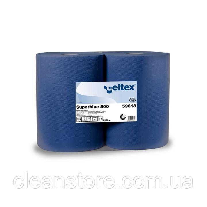 Протирочная бумага Celtex Superblue 500, 2 х 500 отр.